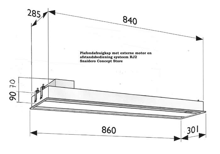 Keuken Afzuigkap Capaciteit : Hier onder nog een maatschets van de plafondafzuigkap ( klik hier voor