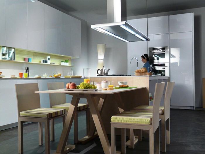 Lumina eilandafzuigkap xcalm ec a snaidero concept store