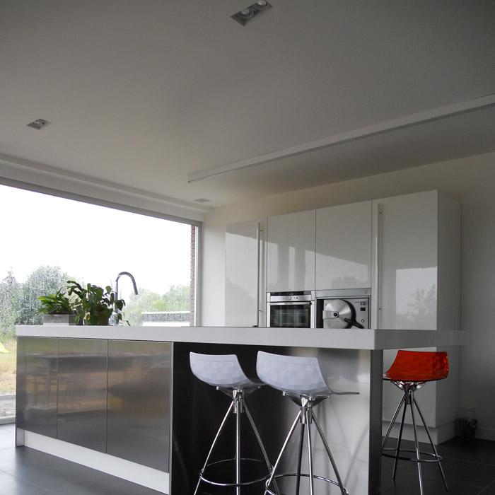 Project 500 is een Italiaanse design keuken geplaatst in België door de Snaidero Concept Store.