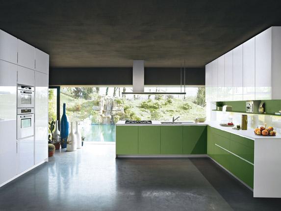 Keuken Kleur Groen : Presentatie nieuwe kleuren van de Snaidero Orange keuken 2010