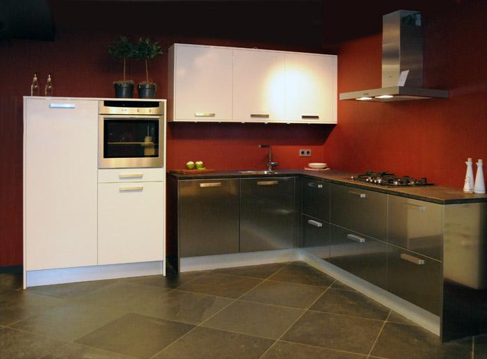Roestvrij Stalen Keuken : Aanbieding snaidero roestvrijstalen keuken tecnica met stenen