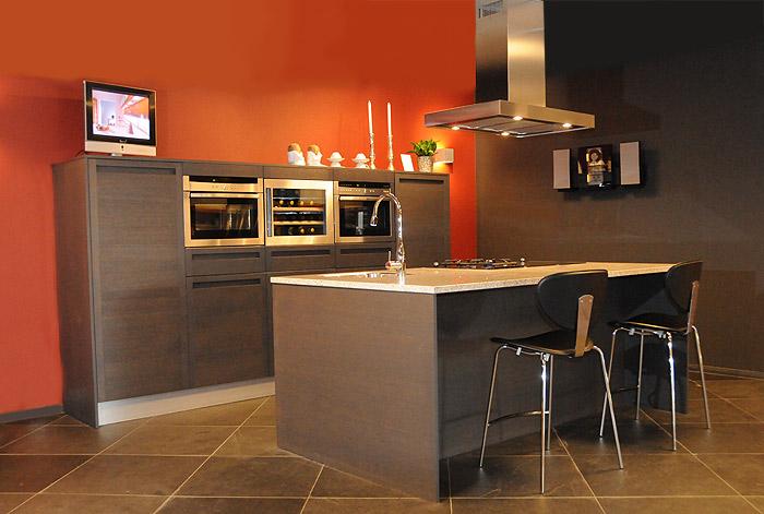 Keuken Donker Eiken : rj keukens snaidero keuken model terra donker eiken opstelling s15