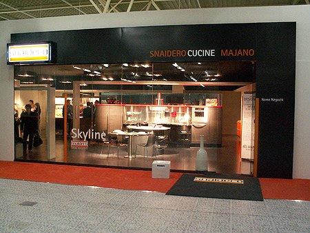 Concept Snaidero keuken showroom zoals Snaidero dit wereldwijd wilt doorvoeren, naar dit voorbeeld is ook onze eigen keuken showroom gemaakt.