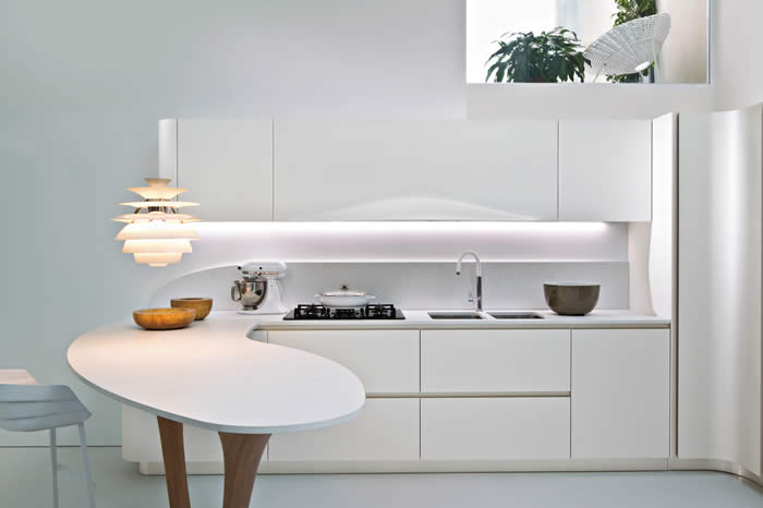 ... Design Keukens e.d.: Italiaanse design keukens met ronde vormen