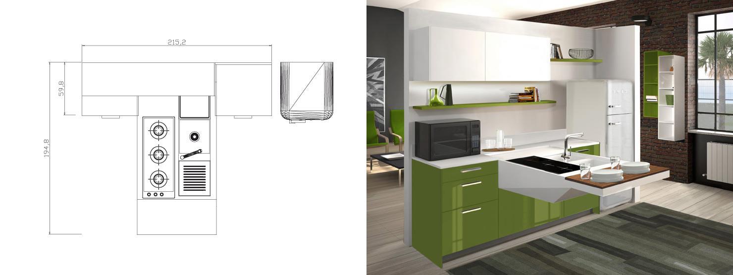 Kleine Keuken Met Schiereiland : Rudy`s blog over Italiaanse Design ...