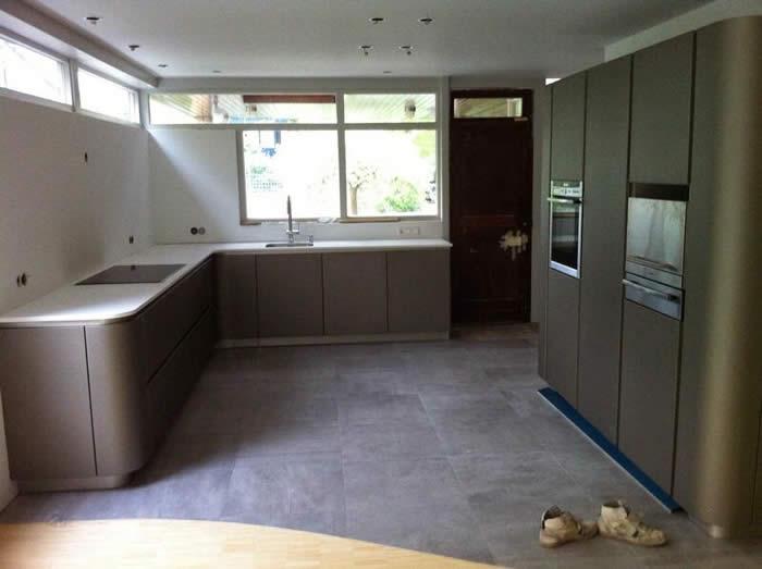 Corian Achterwand Keuken : Het werkblad van deze Snaidero Ola 20 is in Corian uitgevoerd. Het