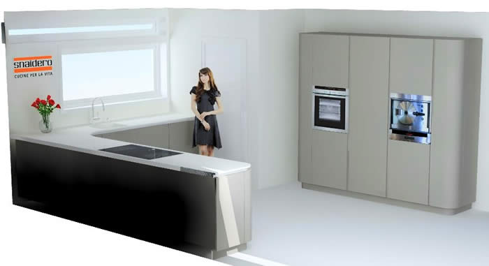 Ronde Design Keukens : Bij deze Snaidero Ola 20 keuken is het werkblad ...