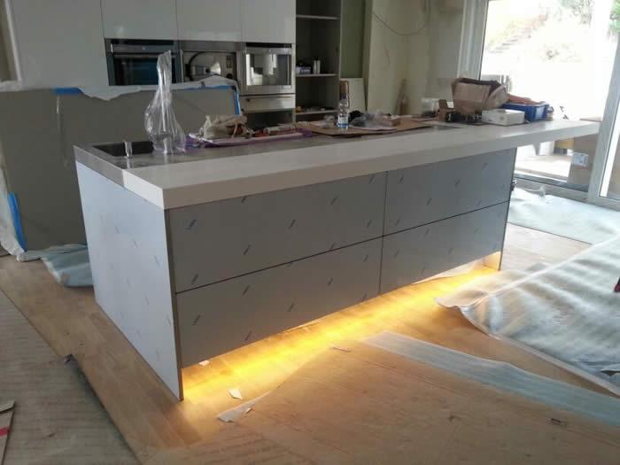 Lamp eiland keuken - Winkel raam keuken ...