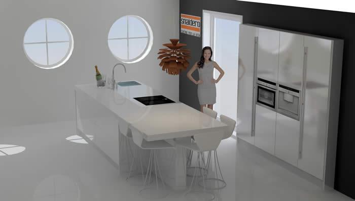 Snaidero concept store stijlvolle designkeukens italiaans design van topkwaliteit - Modellen van kleine moderne keukens ...