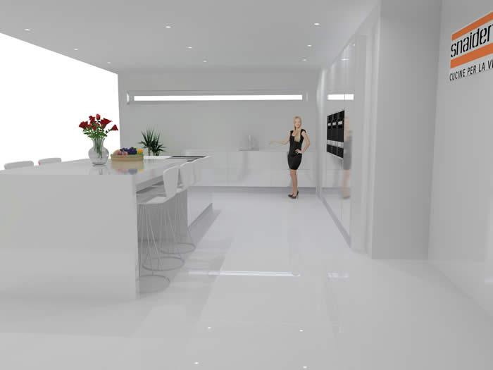 Witte Keuken Donker Werkblad : Snaidero concept store stijlvolle ...