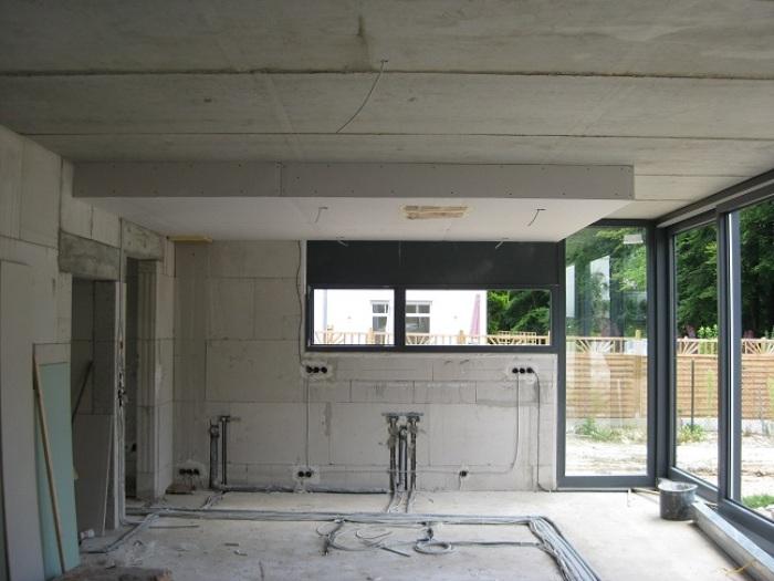 Verlaagde Plafond Keuken : het verlaagde plafond gemaakt nu inclusief de ingebouwde plafond