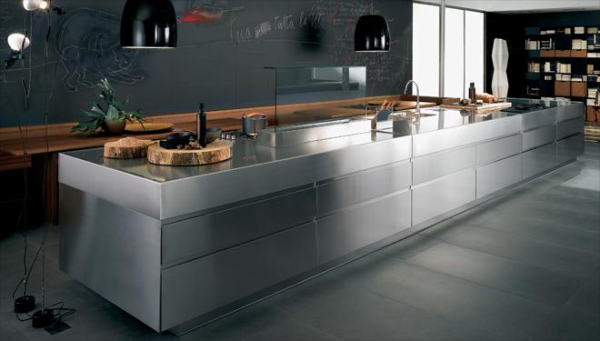 interiur huis keuken Roestvrijstalen keukens, praktisch