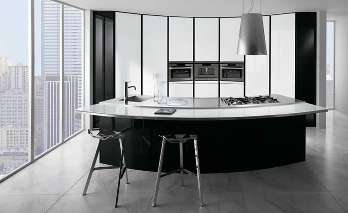 ... over Italiaanse Design Keukens e.d.: Ronde Italiaanse design keukens