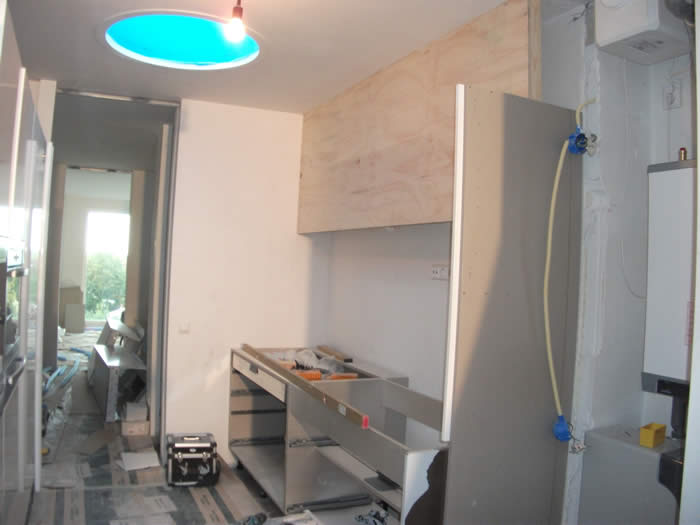 Italiaanse design keuken snaidero te amsterdam projekt 560 - Roestvrijstalen kast ...