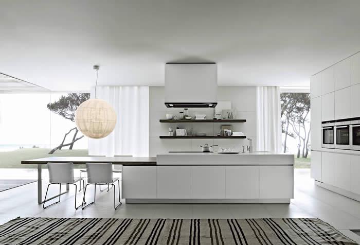 Keuken Met Kookeiland En Tafel : blog over Italiaanse Design Keukens e.d.: Keukentafel voor woonkeuken