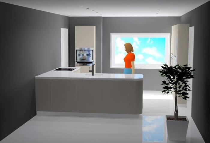 Afmetingen Schiereiland Keuken : Moderne Keuken Met Schiereiland : keukens voor zeer lage keuken
