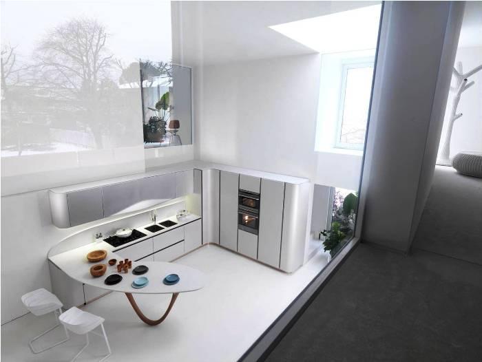 Zwart Wit Foto Italiaanse Keuken : De nieuwe Snaidero Ola 20 Italiaanse keuken hier opgesteld in wit.