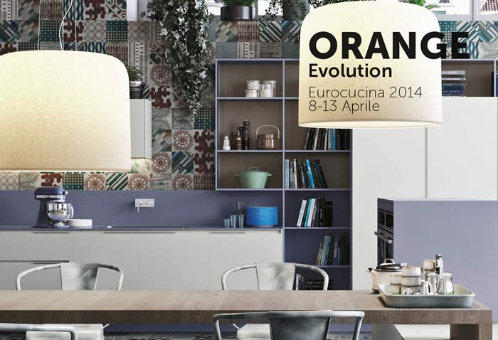 Op de EuroCucina van 2014 presenteerde Snaidero ook de Orange Evolution keuken.