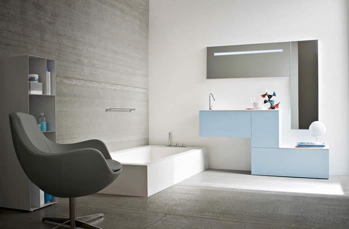Badkamer meubel razio bij de snaidero concept store - Meubel design badkamer ...