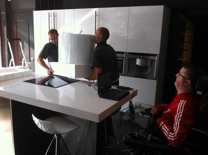 Keuken Afzuigkap Recirculatie : Design Keukens e.d.: Snaidero Spring afzuigkap in de showroom