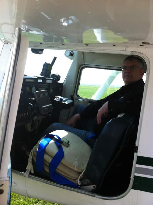 Met deze klant zijn we wezen vliegen boven Zeeland met onze Cessna.